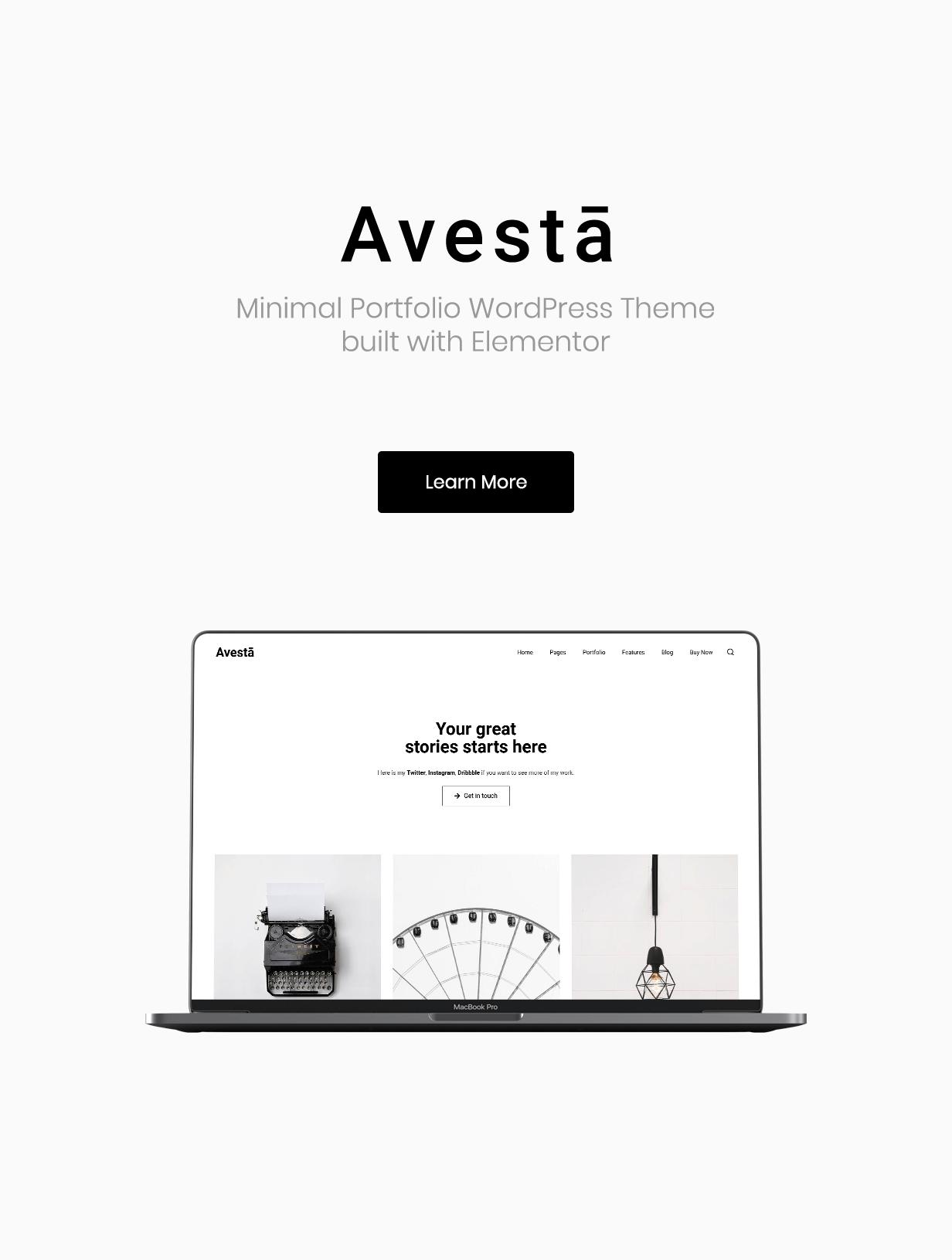 Avestā - Minimal Portfolio WordPress Theme